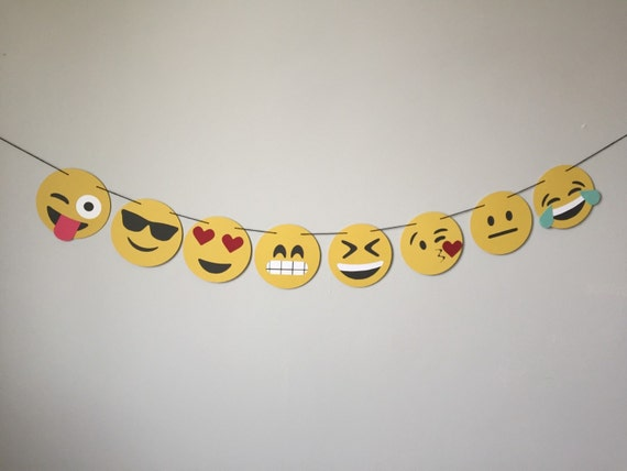 Emoji Banner Style 3 Party Birthday Decor Photo