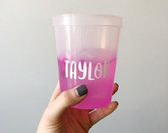Color Changing Cup, Custom Cup, Personalized Cup, Kids Name Cup, Bridal Shower, Bachelorette Party, Personalized Cup, Birthday Party Cup