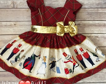 a3c3afa259c0 Nutcracker Christmas Dress, Nutcracker Party Dress, Nutcracker Princess  Dress, Girls Christmas Dress