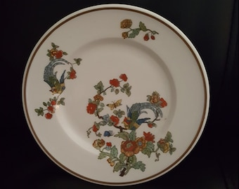 "Vintage Birds of Paradise Ivory Lamberton Scammell China 6"" Plates Set of 4"