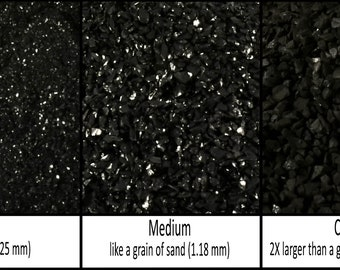 Natural Jet stone - Crushed Inlay Stone (fine, medium, or coarse - .5 oz, 1 oz,  2 oz, 1/2 lb) Great for woodworking, jewelry and more