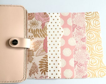 Planner Dividers: Blush Pink & Gold Glam - @gradient_colors17!   (Round Tabs) 1003-R
