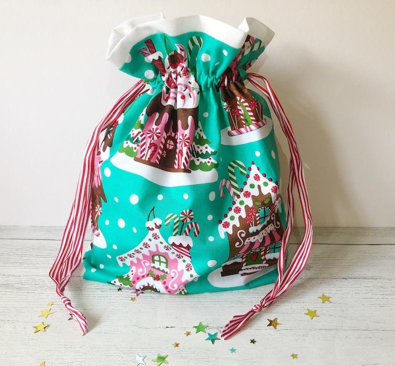 Project Bag | Gingerbread House Bag Gingerbread Bag Festive Gift Bag
