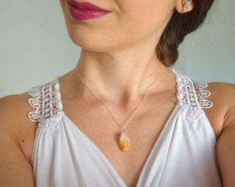 Citrine necklace, Yoga necklace, Chakra necklace, Reiki necklace, Citrine gemstone necklace, Gemstone necklace, Healing necklace