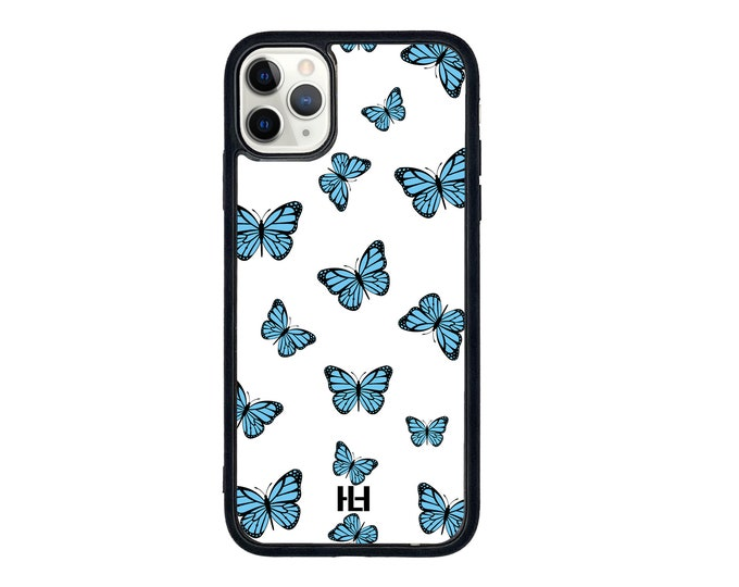 Featured listing image: Blue Butterfly print phone case