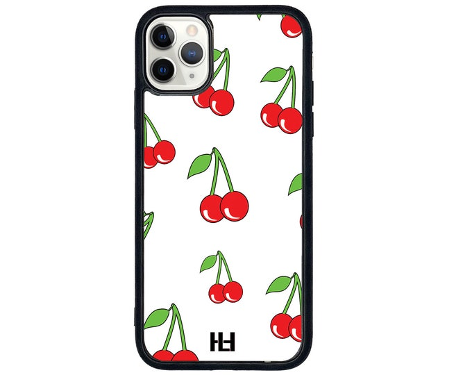 Featured listing image: Cherry berry on top print phone case