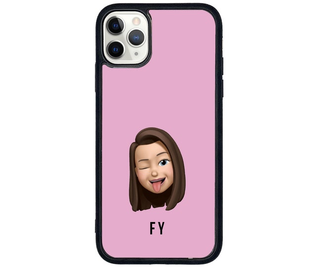 Personalised CUSTOM case (send any design or picture)  iPhone case with soft rubber sides and Tempered glass top
