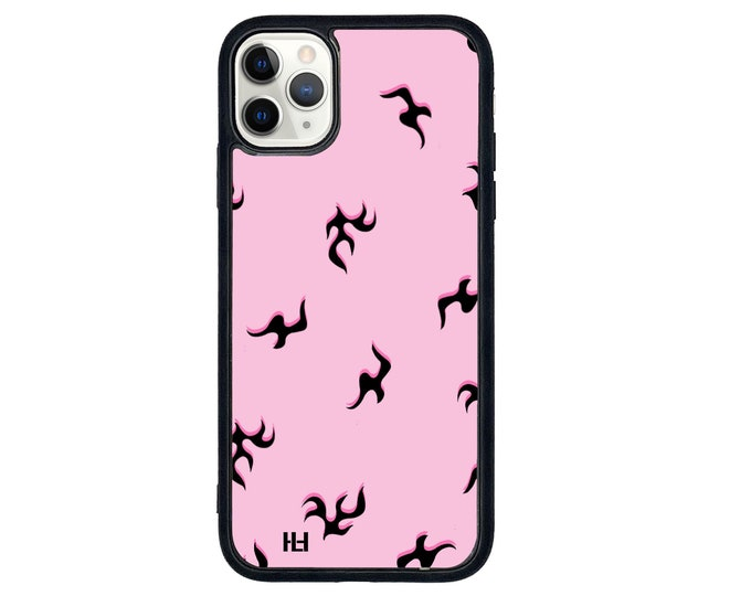 Sparks iPhone case with soft rubber sides and Tempered glass top (choose colour & size)
