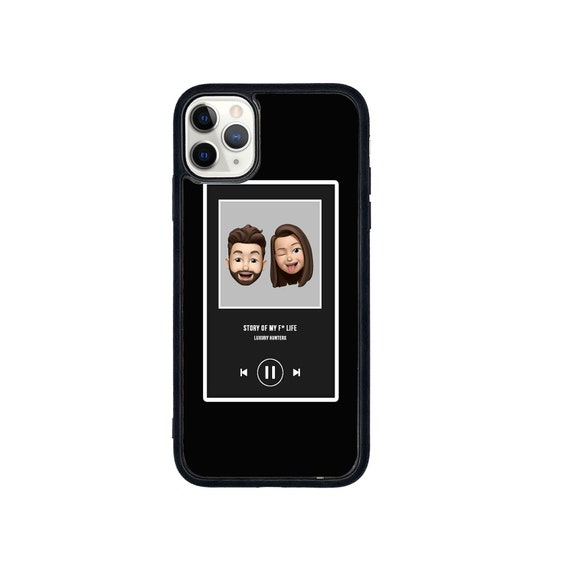 Personalised Spotify inspired case (send any design or picture) iPhone/Samsung/Huawei case with soft rubber sides and Tempered glass top