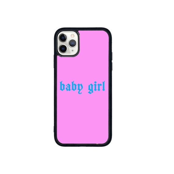 Baby girl text print phone case