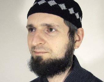 8b69e2463c0 Men s patterned crochet skullcap (tubeteika)