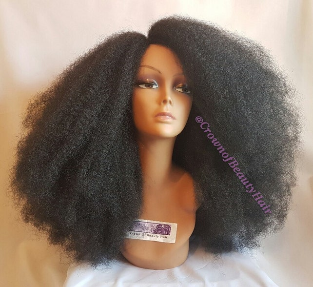 Synthetic Afro Kinky Wig Synthetic Afro Wig Synthetic Kinky Etsy