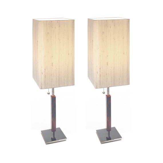 light modern table lamp chrome base
