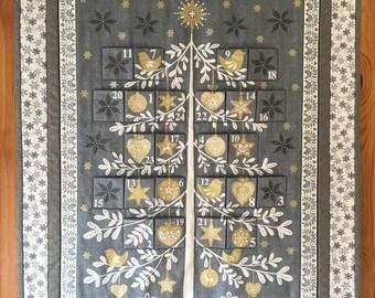 Reuseable Fabric Tree Advent Calendar, Fabric Advent Calendar, Christmas Advent Calendar, Tree Advent Calendar, Scandi Advent Calendar