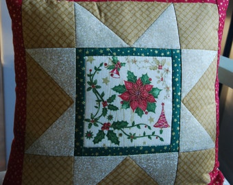 Twisted Log Cabin Poinsettia Table Runner Pattern Table Etsy