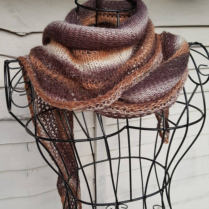 Easy scarf and gloves knitting pattern