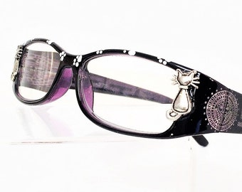 Reading glasses with Cats, Eyeglasses +2.75