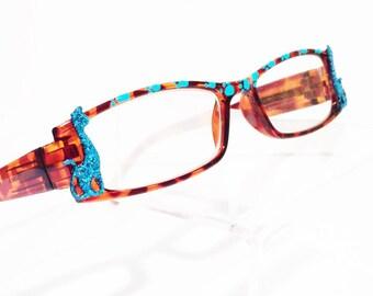 Reading Glasses, Cats, +2.25, Cat lover eyeglasses, Retro Style eyeglasses, Animal Lover Gift, funky, fun