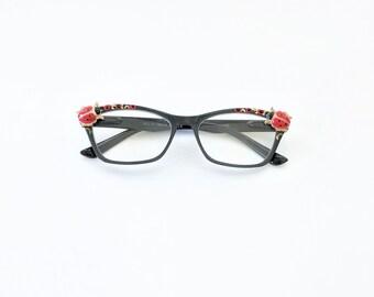 ladybug water tumblers Ladybug Love pair black and gold ladybug large tea glasses gift for retro couple insect glasses