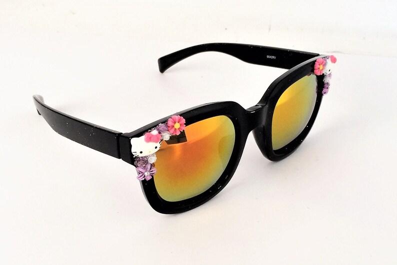 e550d7a1e Hello Kitty Sunglasses women cat eye sunglasses | Etsy