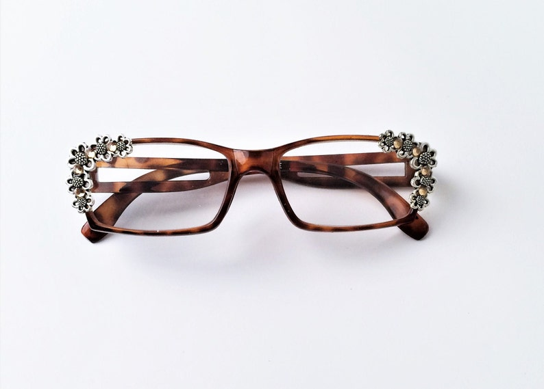 Women/'s reading glasses with Bling +3.75