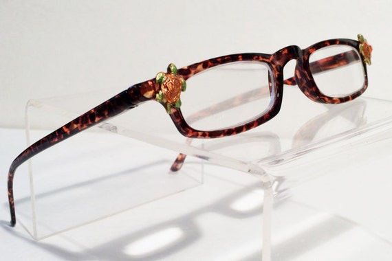 babab32e922f Turtle Reading Glasses 3.00 Women Slim Brown Fun Cute