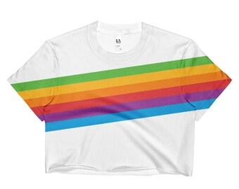 1378bff3537 Pride Crop Top / Gay Pride Crop Top / Retro Pride Crop Shirt / Rainbow Crop  Top / Festival Crop Top / Trendy Crop Top / Retro Style Crop