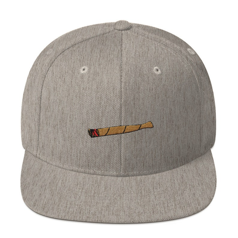 49e7bcdc25743 Embroidered Blunt Snapback Hat   Weed Gift   Marijuana Hat