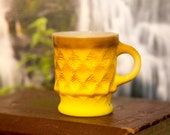 Anchor Hocking Fire King Brown and Yellow Ombre Kimberly Mug - Nice Condition Free Shipping