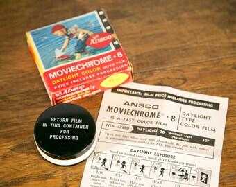 Ansco Moviechrome 8mm Double Roll Daylight Movie Film