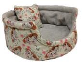 Guinea Pig Fleece Bed Cuddle Cup - 10 quot Round Fleece Pet Bed - Hedgehog Bed - Pet Hideaway Cave - Koala Mom