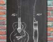 Gretsch Acoustic Guitar 1941 Patent Wall Art Print, Patent Art, Blueprint, Patent Print, Patent Poster, Plexity Prints 031