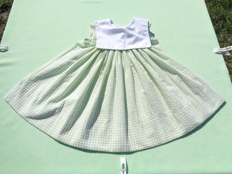 46e51c2ad2920 Vintage amanda remembered baby girls seersucker dress size 24 | Etsy