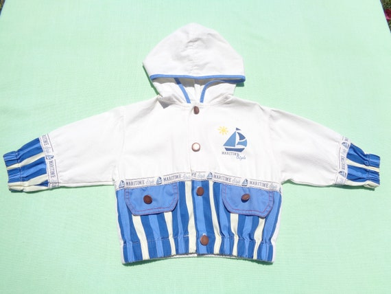 Baby Boys Coat Jacket Hoody in Blue Sizes 3 to 24 Months