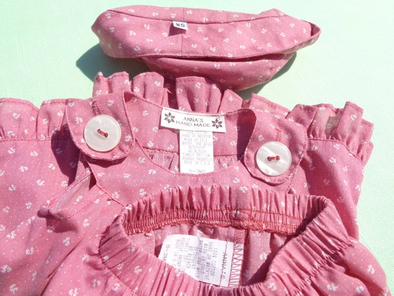 vintage anna's hand made baby girls dress hat and… - image 4