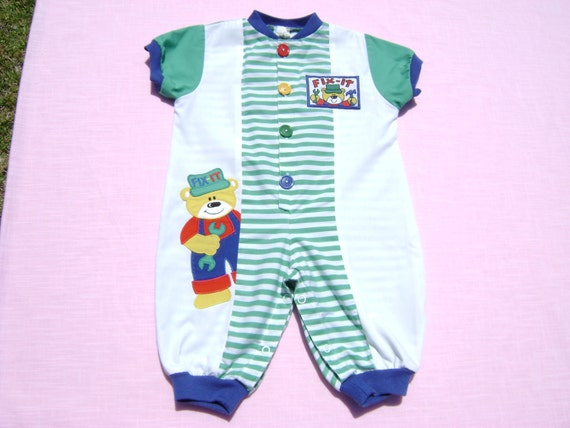 4bce9f7e80ba Vintage baby togs boys coverall romper size 6-9 months see