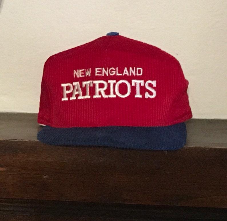 8e2f9fd439031 Vintage throwback New England Patriots corduroy snapback hat