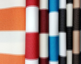 Striped out door material, 100% waterproof anti-UV, 60'' wide Sold by the Yard *Wholesale available too*