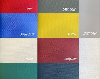 """Canvas Waterproof Solid  Indoor Outdoor Fabric, anti -UV ,17 colors available / 60"""" Wide / Sold by the yard"""