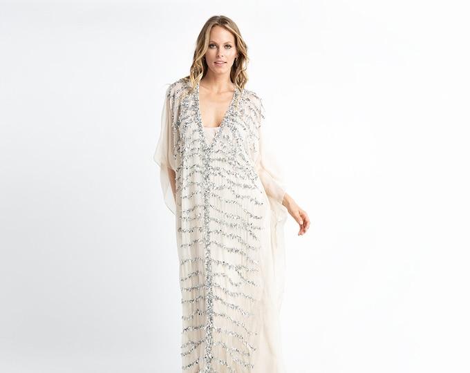 Couture Silk Evening Dress