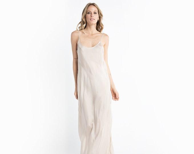 Nude Silk Dress