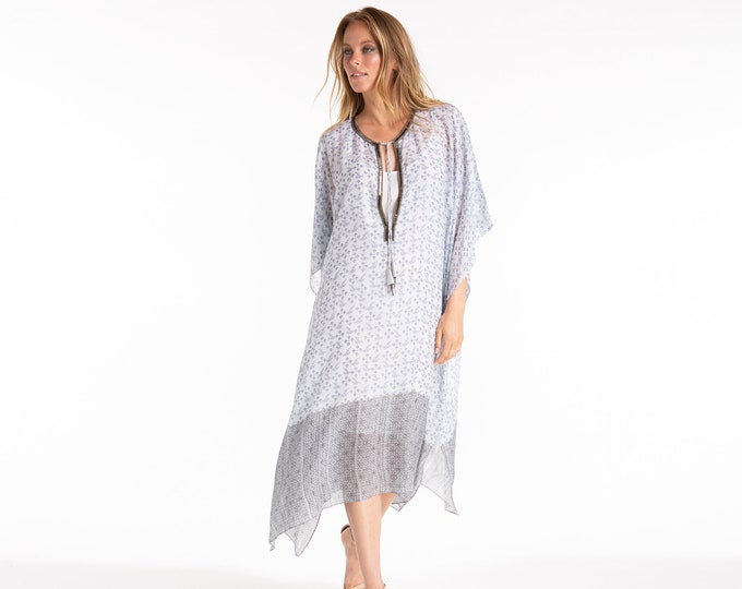 JACI LIAT Printed Silk Dress