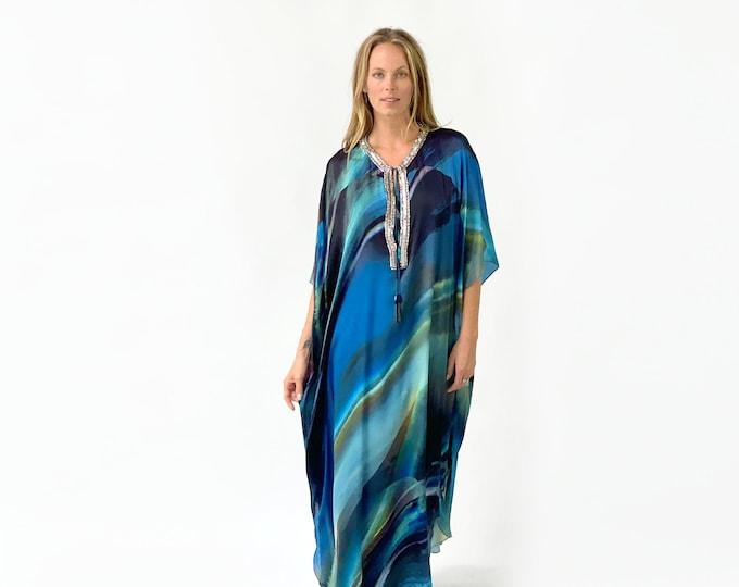 SOPHIA Kaftan silk dress
