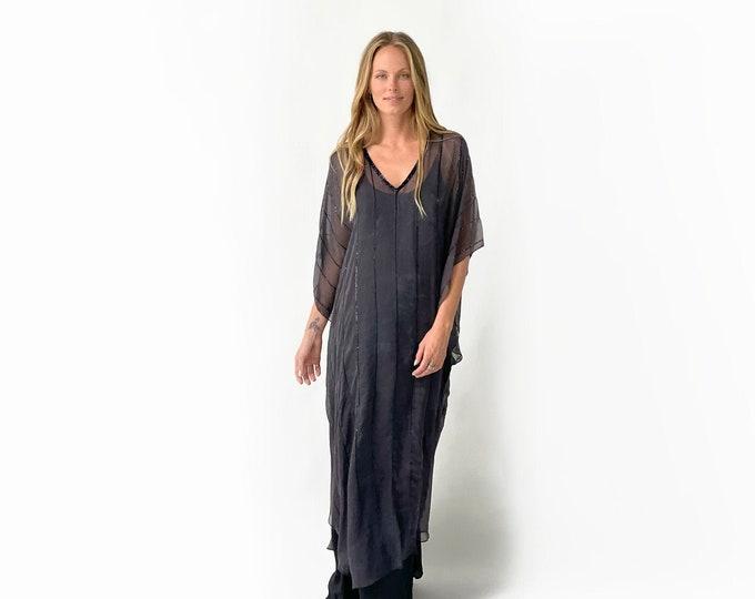 BONNIE PRINT Silk Evening Dress