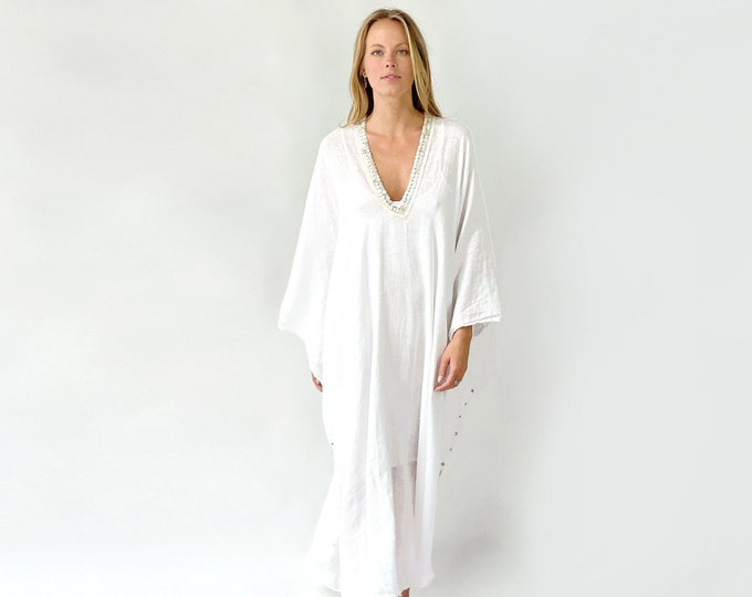 Extra wide linen kaftan Dress
