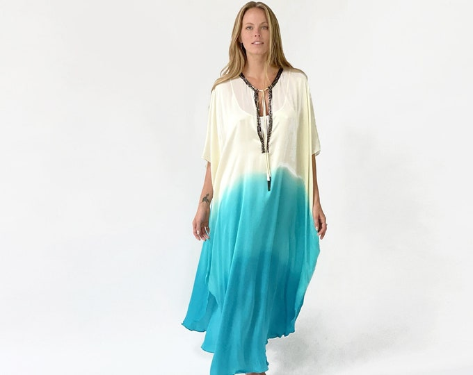 MIKI Kaftan silk dress