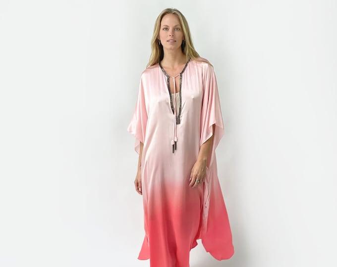 ALMA Kaftan silk dress