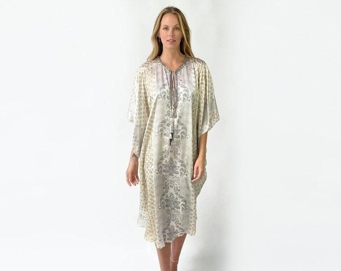 CHARLOTTE Printed Silk Dress