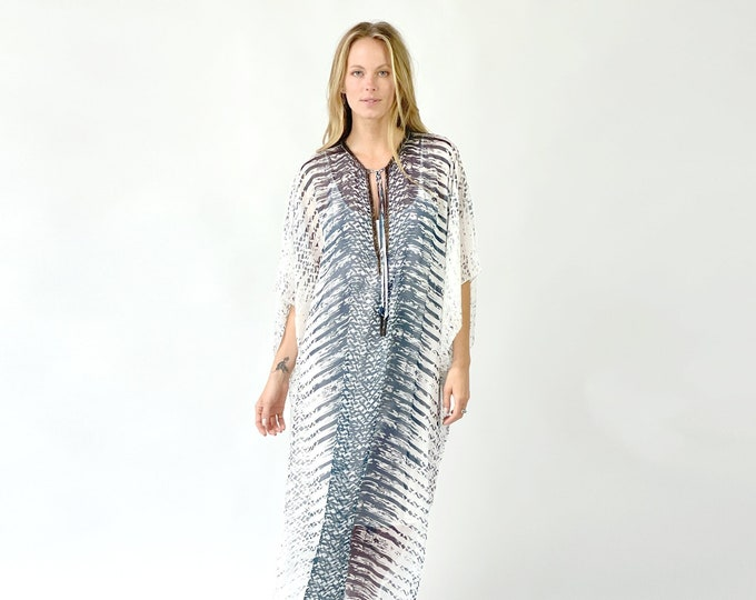 EMMA Silk kaftan Dress