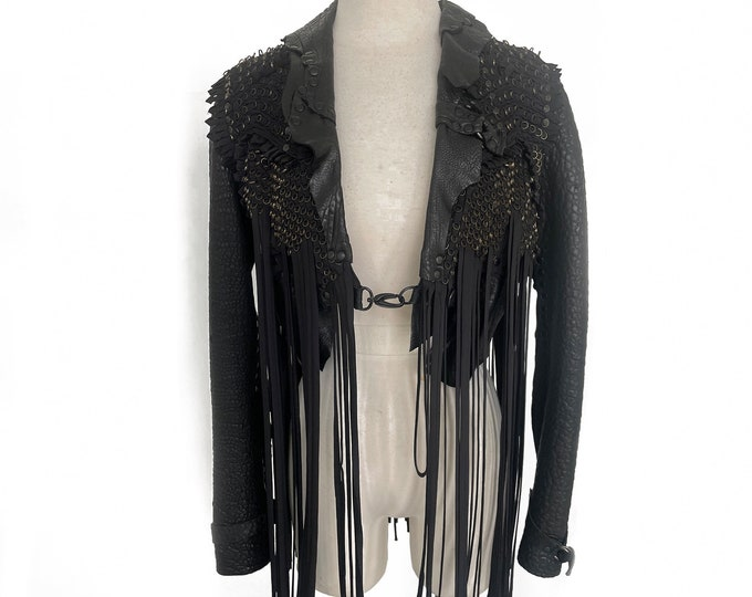B*+S Couture Cropped leather jacket